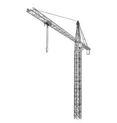 Tower construction crane vector