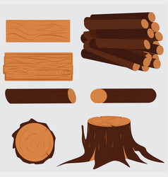 tree lumber wooden vector image