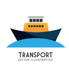 vessel nautical transport icon vector image