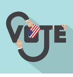 Vote Typography Design vector image