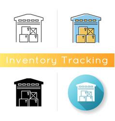 Warehousing icon merchandise storage storehouse vector