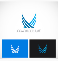 Wing abstract fly logo vector