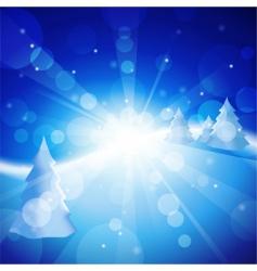 winter meadow vector image