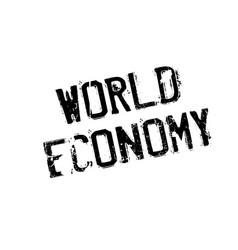 World economy rubber stamp vector