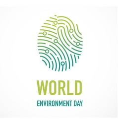 world environment day go green concept design vector image