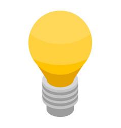 yellow bulb icon isometric style vector image