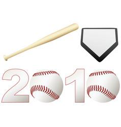 baseball 2010 season vector image