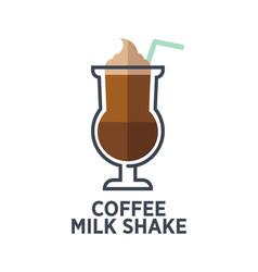 coffee milk shake isolated on white background vector image