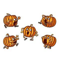 Halloween Runaway Pumpkin set vector image vector image