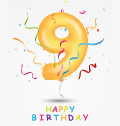 happy birthday celebration greeting card vector image