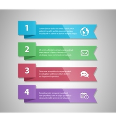 Number Options Banner vector image