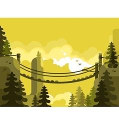 Suspension bridge design flat vector image vector image