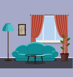 vintage style living room vector image vector image