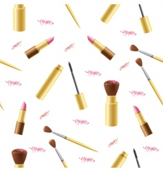 cosmetics seamless background vector image vector image