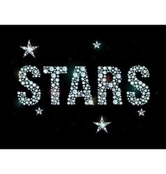 Diamond word stars vector image vector image