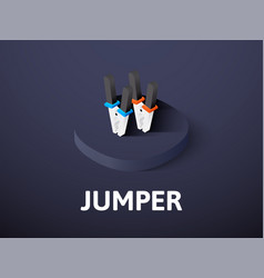 Jumper isometric icon isolated on color vector