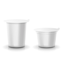 Realistic plastic container of yogurt or vector image