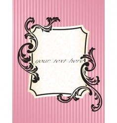 romantic French frame vector image vector image