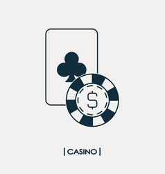 casino logo vector image