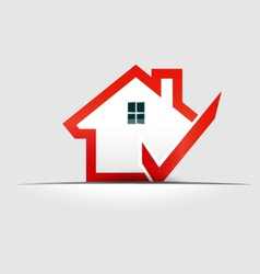 House check logo design element vector image vector image