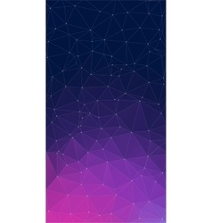 Purple background with triangles vector image vector image
