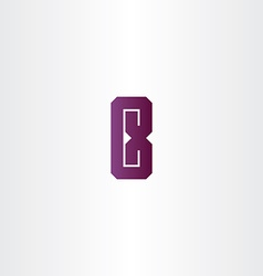 purple letter e logo sign design vector image
