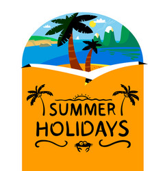 summer beach background summer holidays vector image vector image