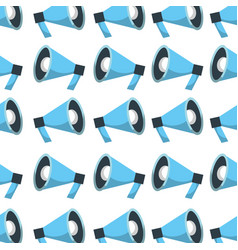 megaphone advertising marketing speaker seamless vector image
