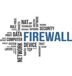 word cloud firewall vector image