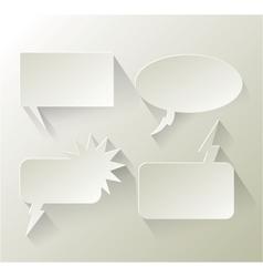Abstract design speech bubble copyspace vector image