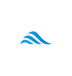 abstract wave ocean company logo vector image