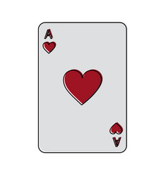 Ace of hearts french playing cards related icon vector
