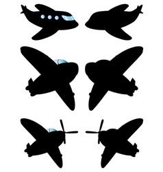 Airplane Black Silhouette2 vector