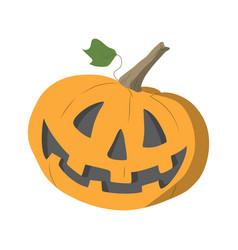 an orange halloween pumpkin flat design vector image