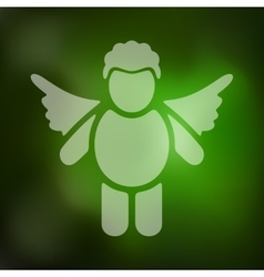 Angel icon on blurred background vector