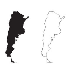 Argentina country map black silhouette vector