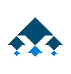 arrow up logo icon vector image