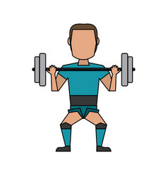 Athlete sport avatar icon image vector