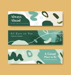banner template with shopping design for leaflet vector image
