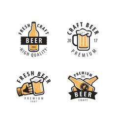 beer symbol or label pub restaurant drink vector image