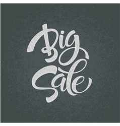 Big Sale Inscription Calligraphy Lettering vector image