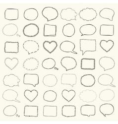 Black Hand Drawn Speech Bubbles Borders vector