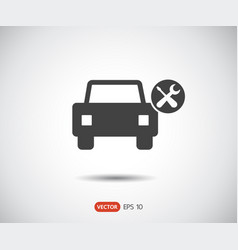 car service icon auto repair flat maintenance vector image