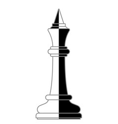 chess king abstract vector image
