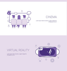 cinema and virtual reality concept template web vector image