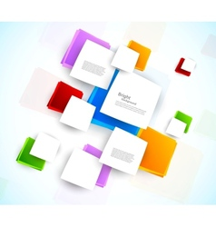 Colorful design with squares vector image