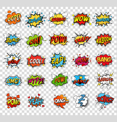 comic speech bubbles or sound replicas vector image