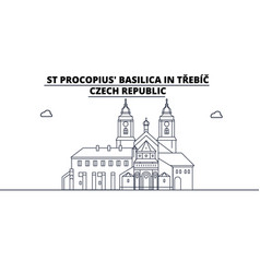 Czech republic - trebic st procopius basilica vector