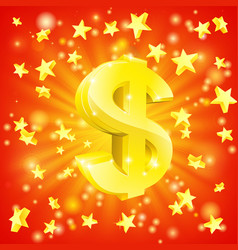 dollar money star concept vector image