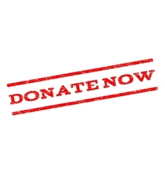 Donate Now Watermark Stamp vector